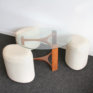 TH Brown fondue table & stools_open2