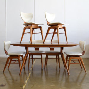 mid century dining table & chairs_crop