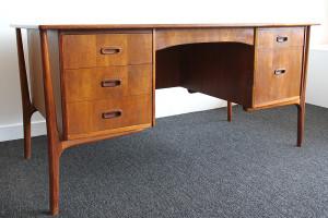 mid century teak desk_angle