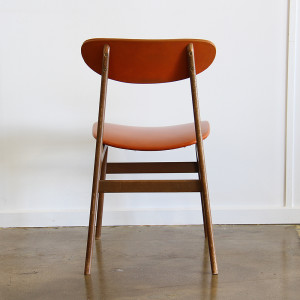 orange dining chair single_back