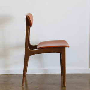 orange dining chair single_side