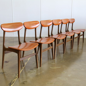 orange dining chairs_angle row