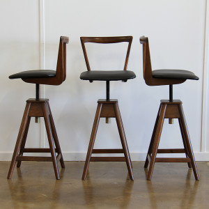 th brown 3x bar stools_front & side