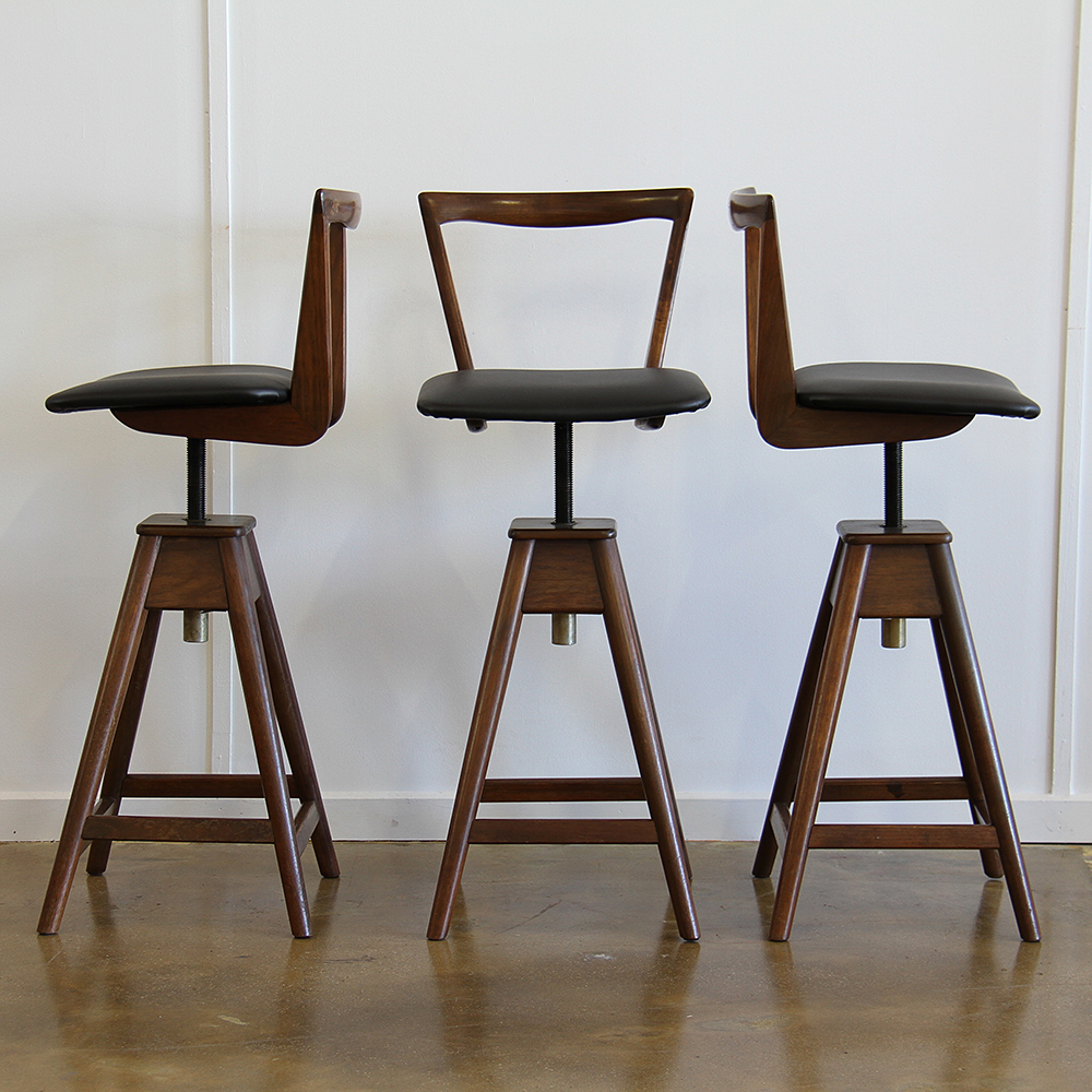 T H Brown Bar Stools X3 Realm