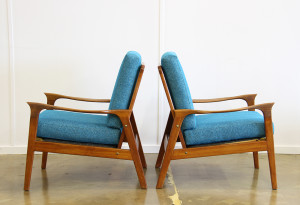 blue teak armchairs 2
