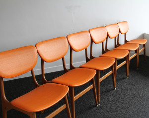 orange dinding chairs 1
