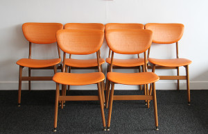 orange dining chairs 2
