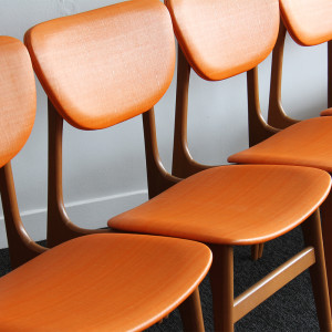 orange dining chairs crop