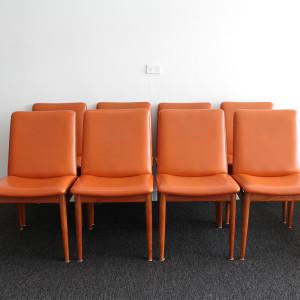 parker dining chrs orange 8